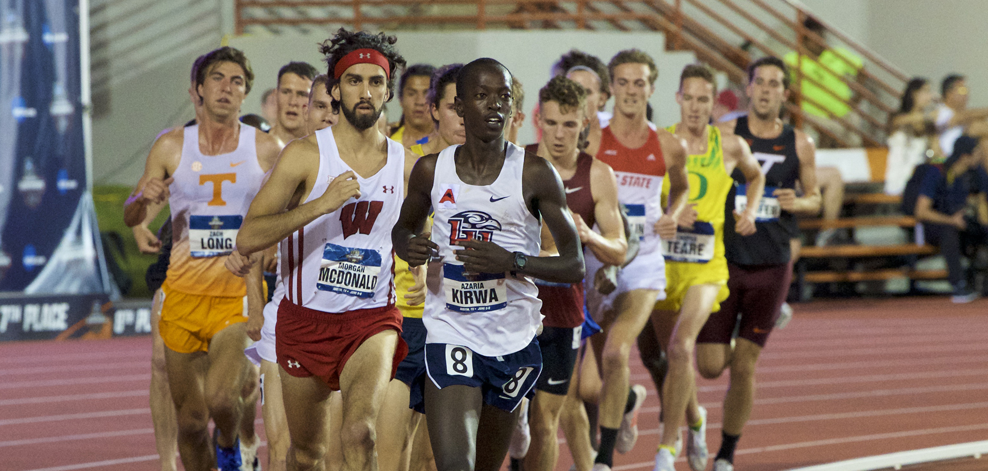 Azaria Kirwa qualified for the NCAA Division I Outdoor Track & Field Championships in the men's 5K on Saturday. (Photo courtesy Cheryl Treworgy/Pretty Sporty)