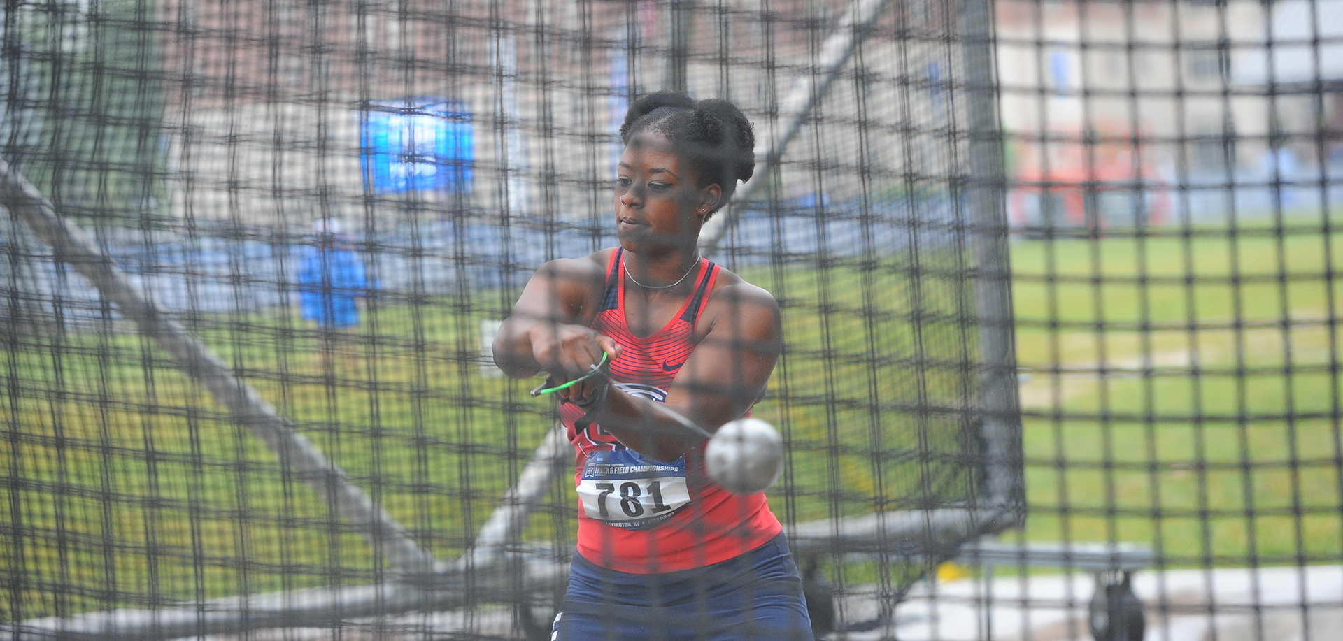 Dasiana Larson was the women's shot put runner-up, Friday at the VertKlasse Meeting.
