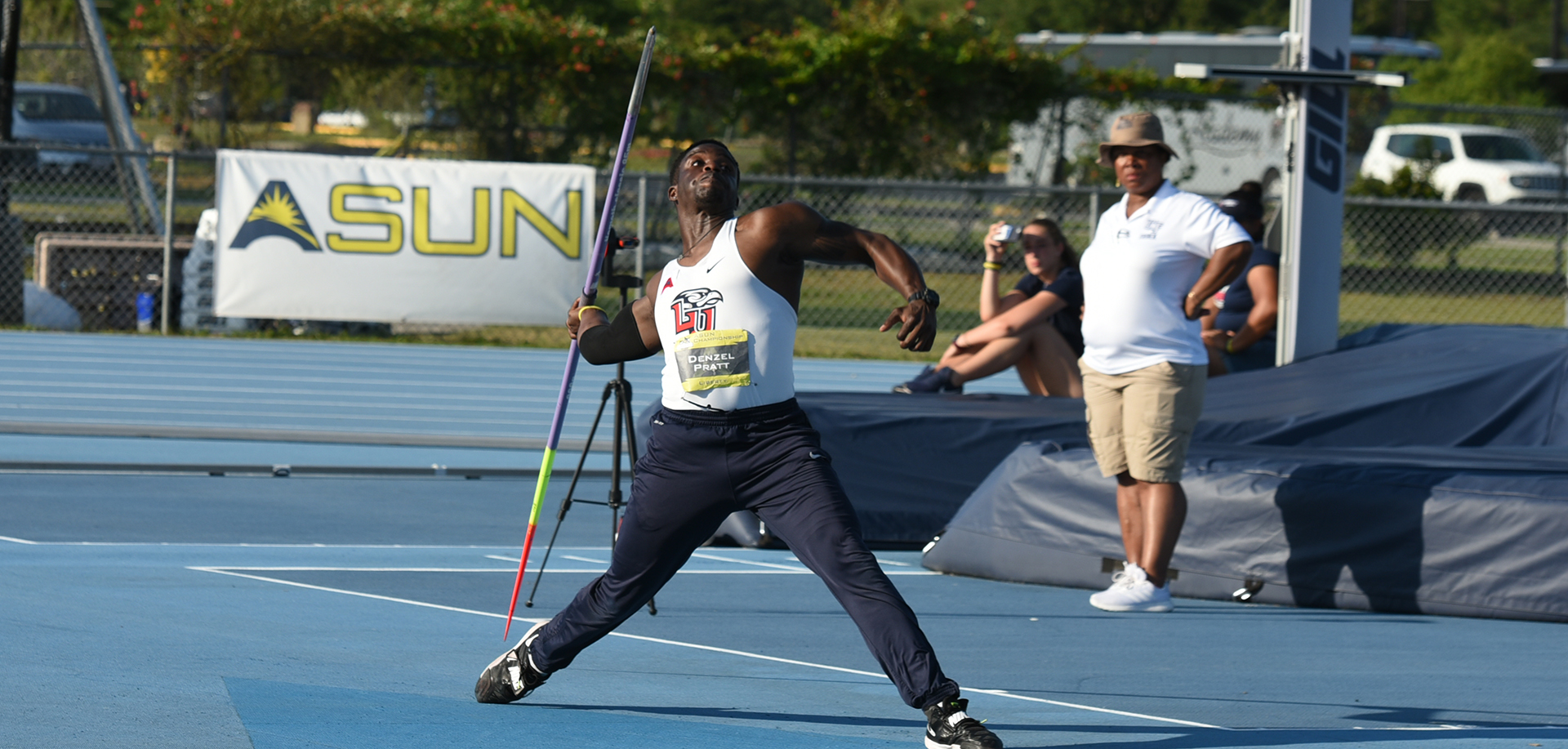 The beginning of the outdoor season means Denzel Pratt will get to throw the javelin for the first time in 2017.