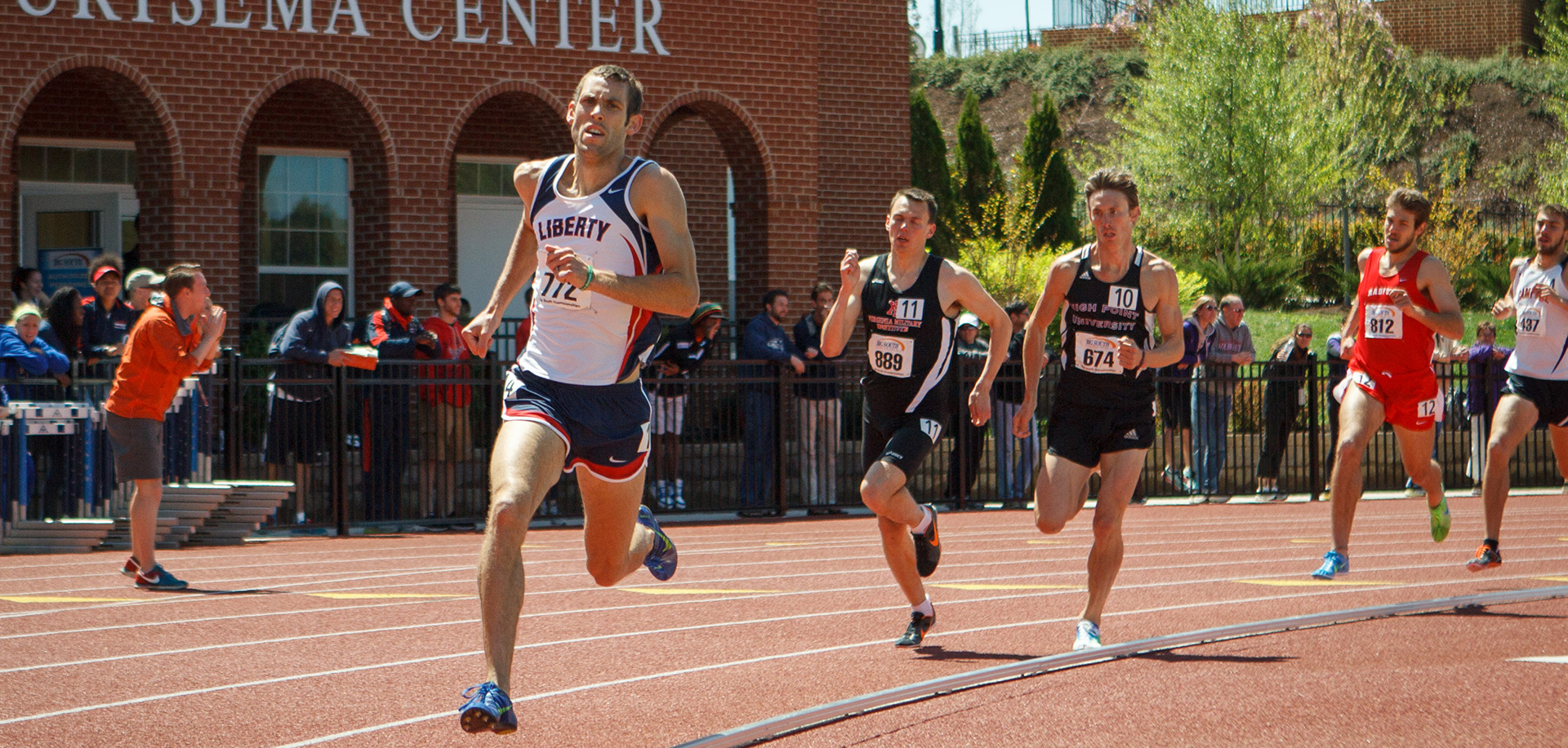 Isaac Wendland, the 2010 Liberty Collegiate Invitational champion in the men's 1,500, will compete in the men's 800-meter run on Saturday.