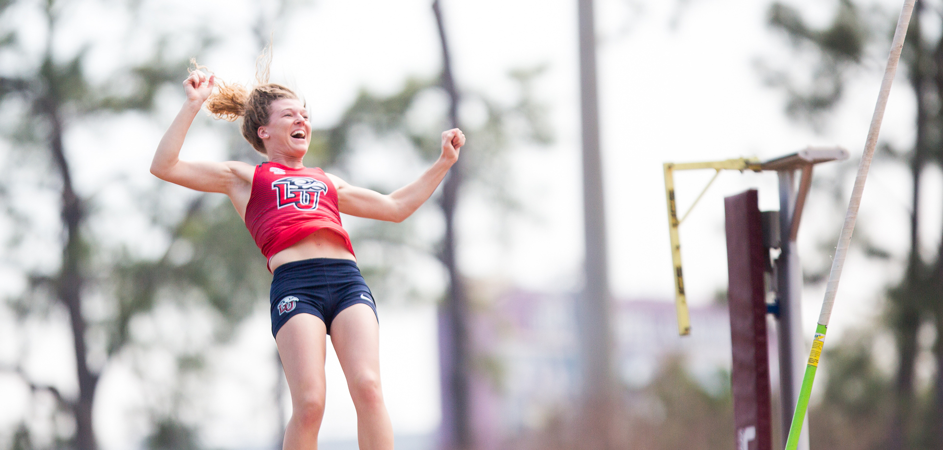 Big South women's pole vault leader Jessie Glynn will square off against some of her top conference rivals on Saturday at the Campbell Invitational.