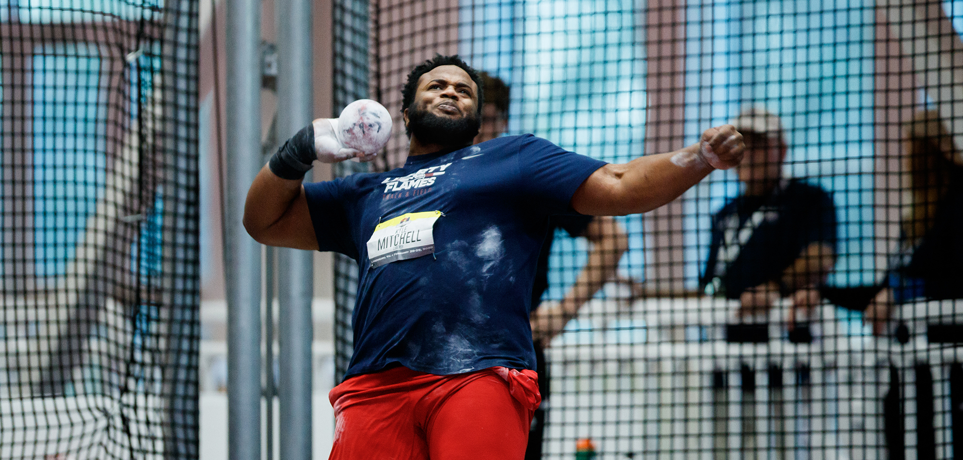 Kyle Mitchell won the men's shot put competition at Saturday's Virginia Tech Challenge.