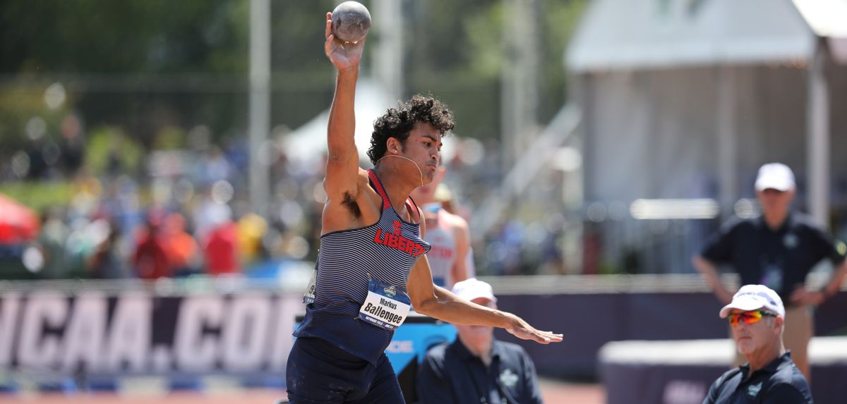 Markus Ballengee posted his best-ever decathlon opening day on Wednesday. (Photo by Chuck Aragon)