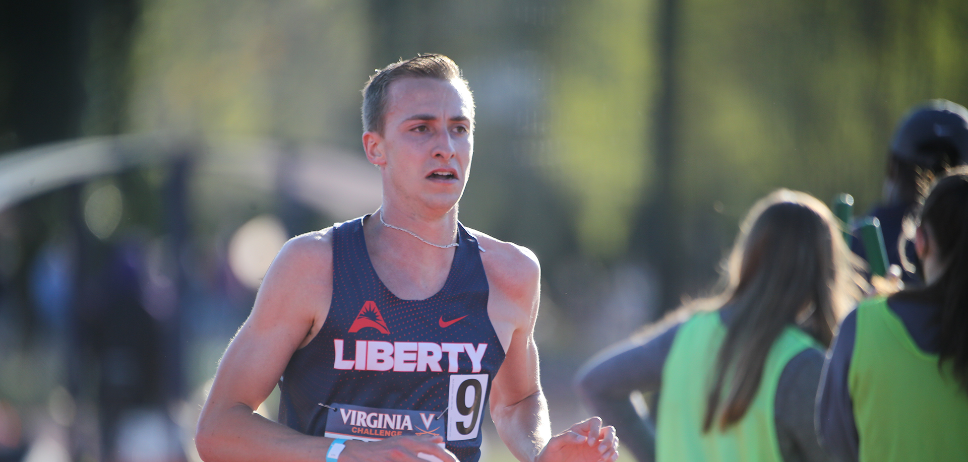 Ryan Drew's 5K time of 13:53.30 on Saturday set an ASUN Conference all-time record. (Photo provided by Jim Daves)