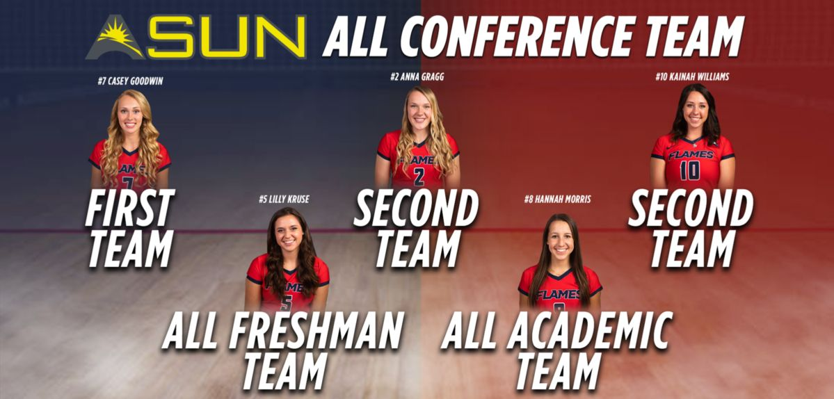 5 Lady Flames Receive ASUN Volleyball Awards