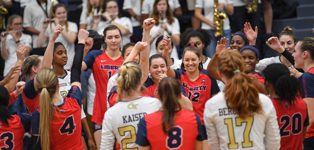 Liberty saw its season end with a 3-0 setback at Georgia Tech in the NIVC Quarterfinal.