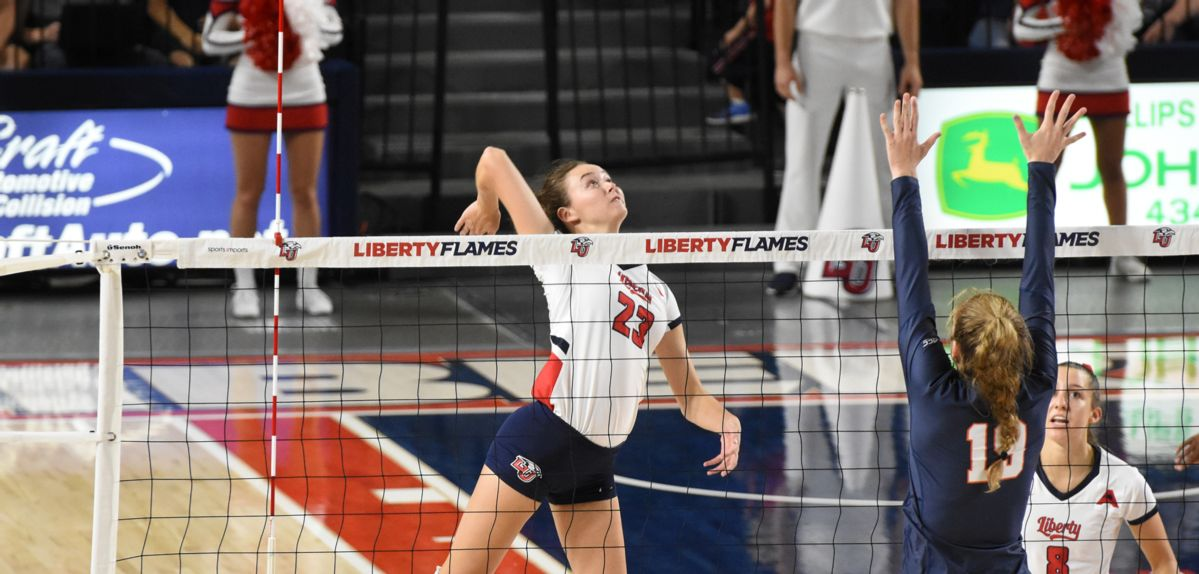 Jenna Culhan scored 11 kills for Liberty on Sunday.