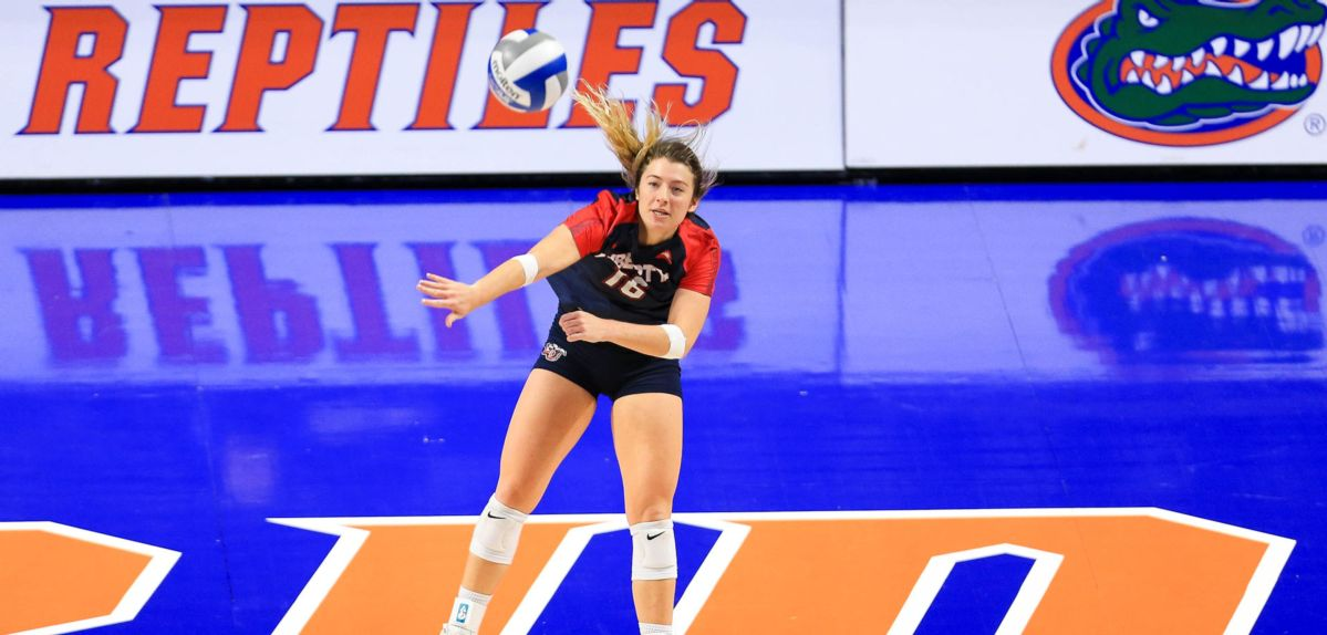 Macy Phillips recorded three aces and 12 digs on Friday at Florida.