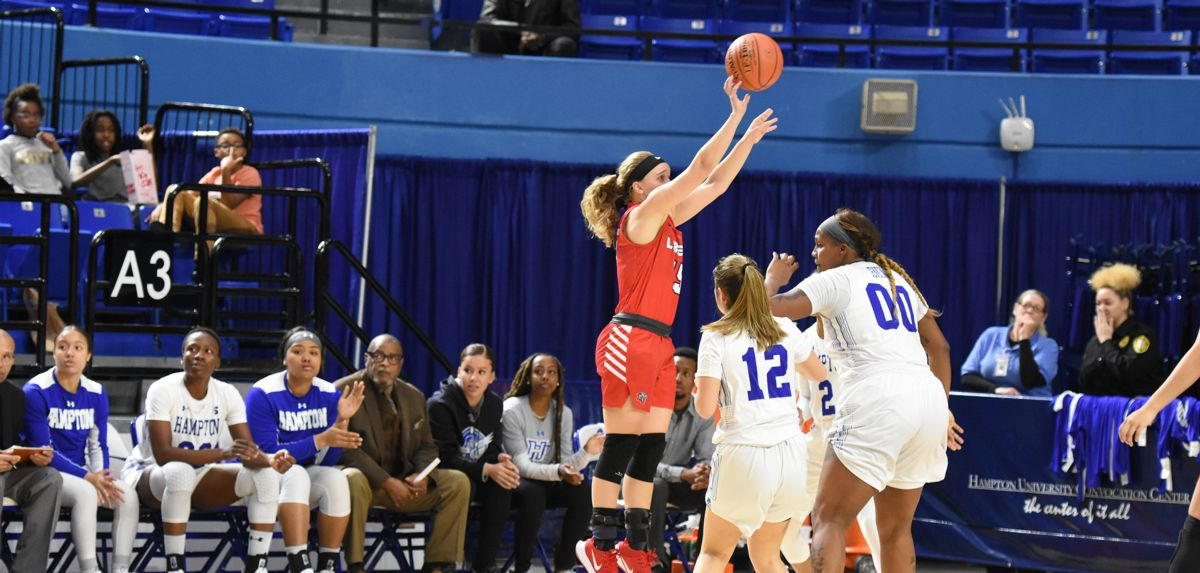 Audrey Clark contributed a career-high seven points to an 83-59 triumph at Hampton, Saturday evening.