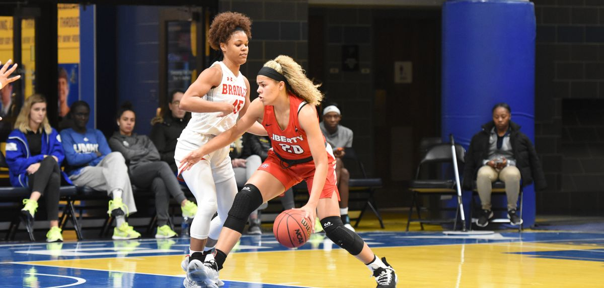 Mya McMillian scored a career-high 15 points and pulled down nine rebounds during a 75-63 victory over Bradley on Friday.