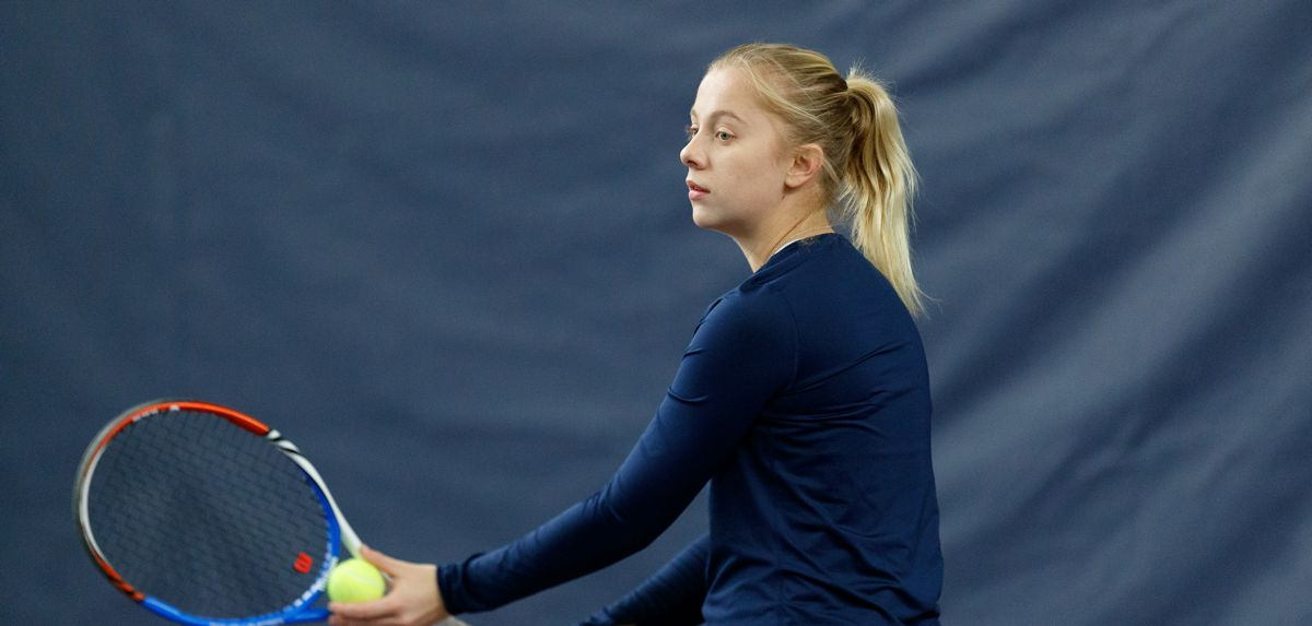 Due to inclement weather, the match today between Liberty women's tennis and Arizona has been postponed.
