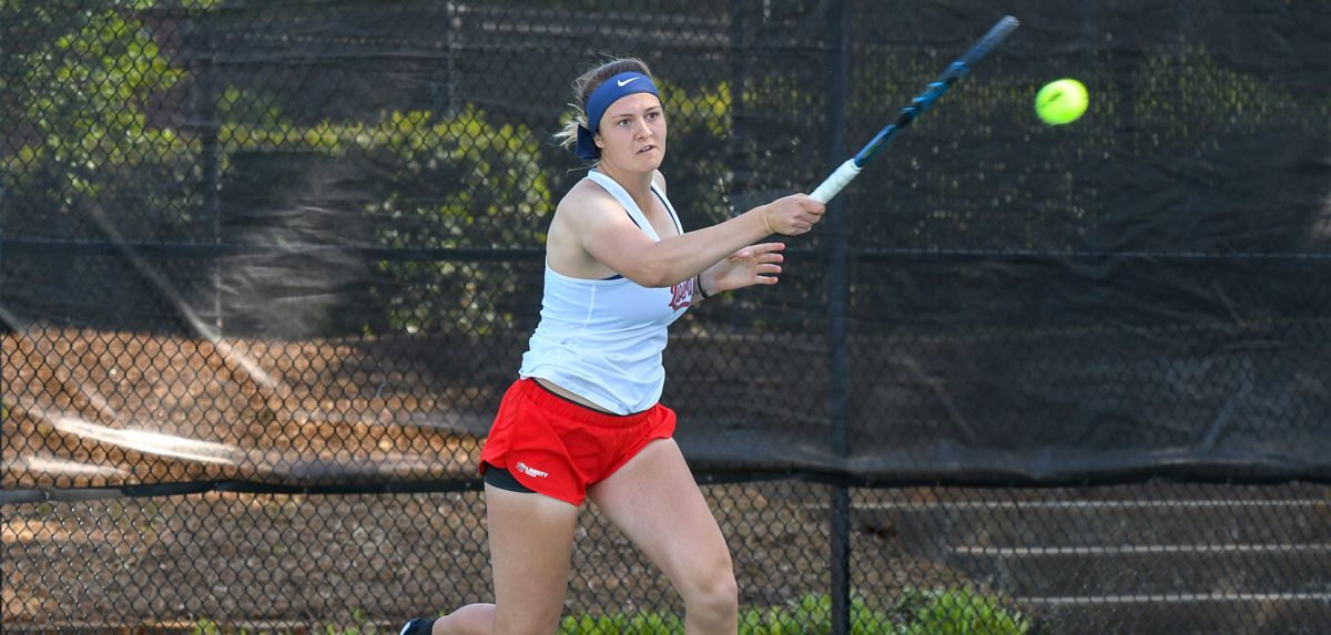 Miroshnichenko won her singles match on court four vs. Asheville in Liberty's 4-0 victory.