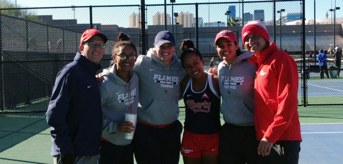 The Lady Flames won 10 total matches (seven singles, three doubles) at the UNLV Rebel Invite.