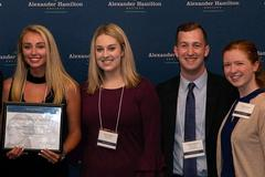 Alexander Hamilton Society chapter awarded Best New Chapter of the Year