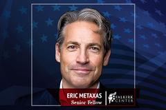 Author and radio host Eric Metaxas to join Liberty University's Falkirk Center for Faith & Liberty