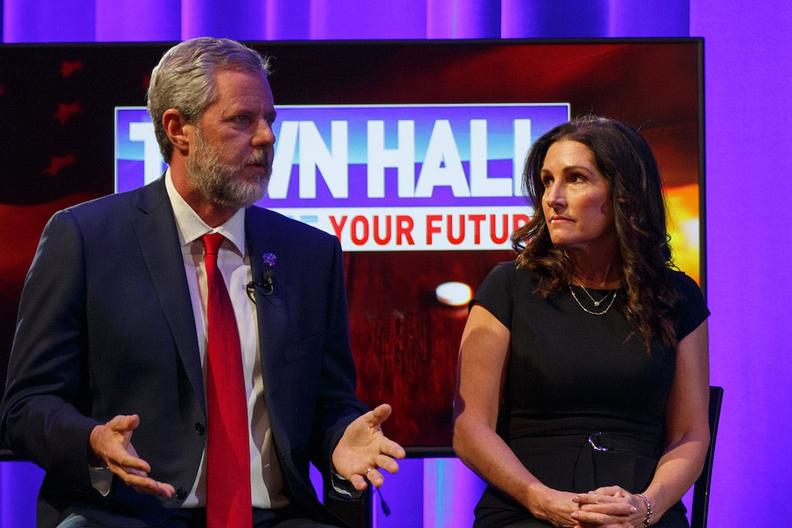 President Falwell, Becki Falwell join Eric Bolling for opioids crisis town hall in Charleston