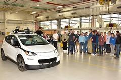 Engineering, business students get close-up look at General Motors operations on Detroit trip