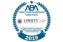 Liberty Law earns No. 3 ranking for ABA national competitions