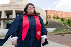 Knocked down, not out: Graduate overcomes brain injury to earn degree