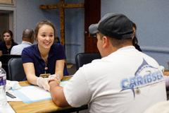 School of Nursing receives Salvation Army award for serving community at Hands and Feet Clinic
