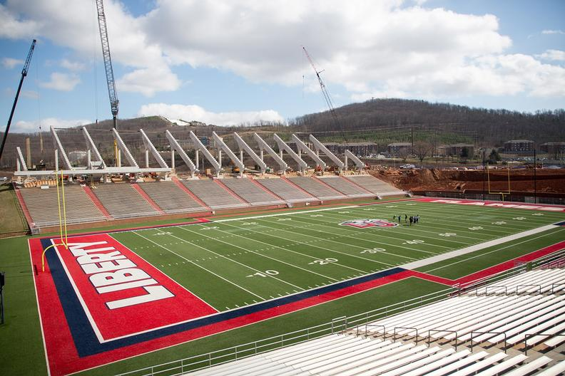 Williams Stadium expansion taking shape | Liberty University